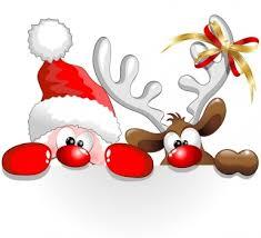 Papá Noel y el reno, es navidad