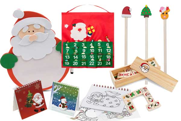 Dominos infantiles, plantilla para colorear, calendarios de adviento. En Cosas43 tenemos muchos detalles navideños para los niños
