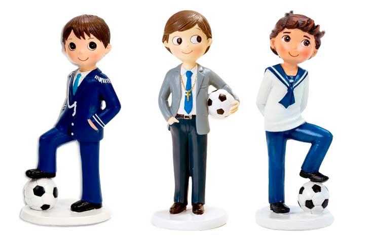 Figuras para tarta de comunión con balon de futbol