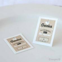 Etiquetas o tarjetas boda