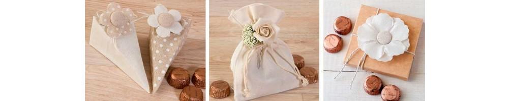 Detalles con bombones para los invitados de tu boda | Recuerdos dulces