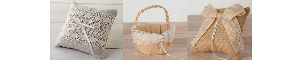 Arras, cestas y cojines para bodas | Complementos para bodas