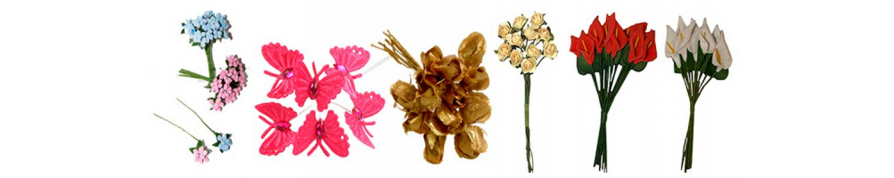 Florecitas y ramilletes para la decoración de los recuerdos