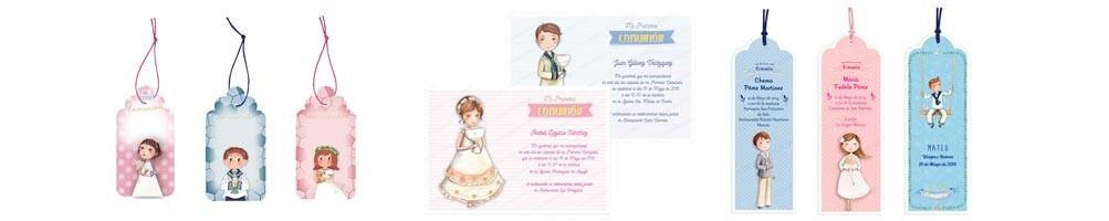 Estampas, tarjetas e invitaciones para Primera Comunión