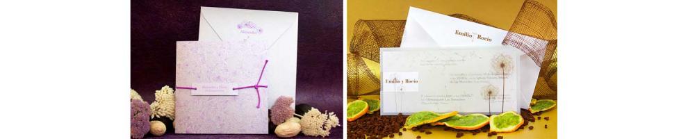 Invitaciones para boda, colección frescura | Invitaciones clásicas