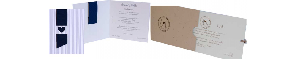 Invitaciones para boda, colección Esencia | Invitaciones modernas