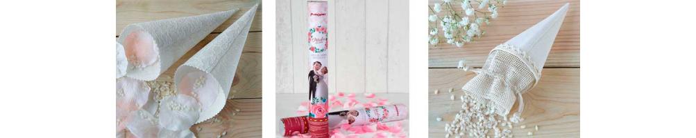 Arroz y pétalos para bodas | Cañon lanza pétalos boda