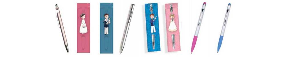 Bolígrafos y fundas para los bolígrafos de Primera Comunión
