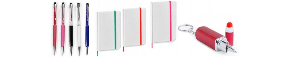 Bolígrafos y Bloces de notas, detalles para regalar a las mujeres