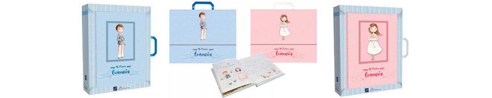 Libros de firmas con maletín para la Primera Comunión