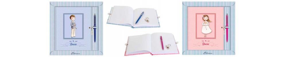 Diarios de primera comunión con encuadernación de lujo