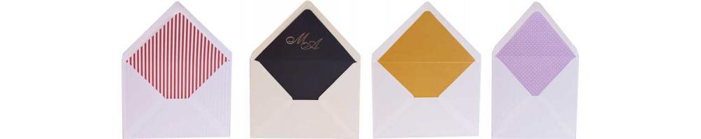 Sobres y Forros para las invitaciones de boda