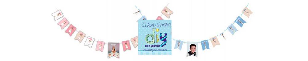 Banderines de Comunión para personalizar en casa