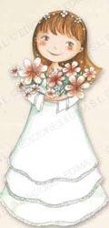 Bandeja niña comunión con ramo de flores