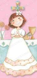 Bandeja niña comunión en el altar