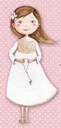 Bandeja niña comunión con rosario