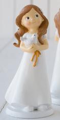 Figura tarta Comunión niña con paloma