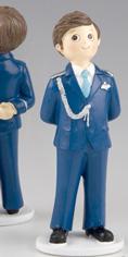 Figura tarta Comunión Almirante traje en azul
